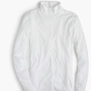 NWT j.crew tissue turtleneck Long sleeve tee WHITE